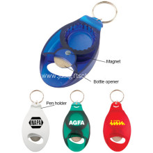 Promotional Beer Magnet Bottle Opener W/ Pen Holder